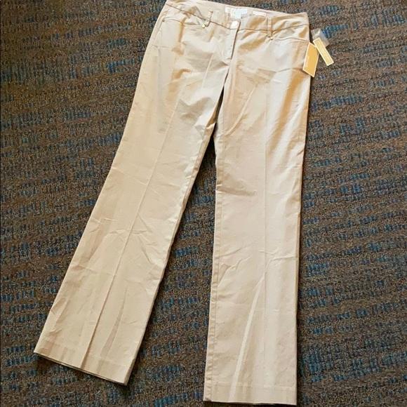 NWT MICHAEL KORS - Gramercy Fit Pants Khaki Size 6
